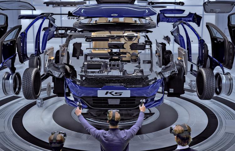 Systém hodnocení konstrukčních návrhů značky Kia na bázi virtuální reality (VR)