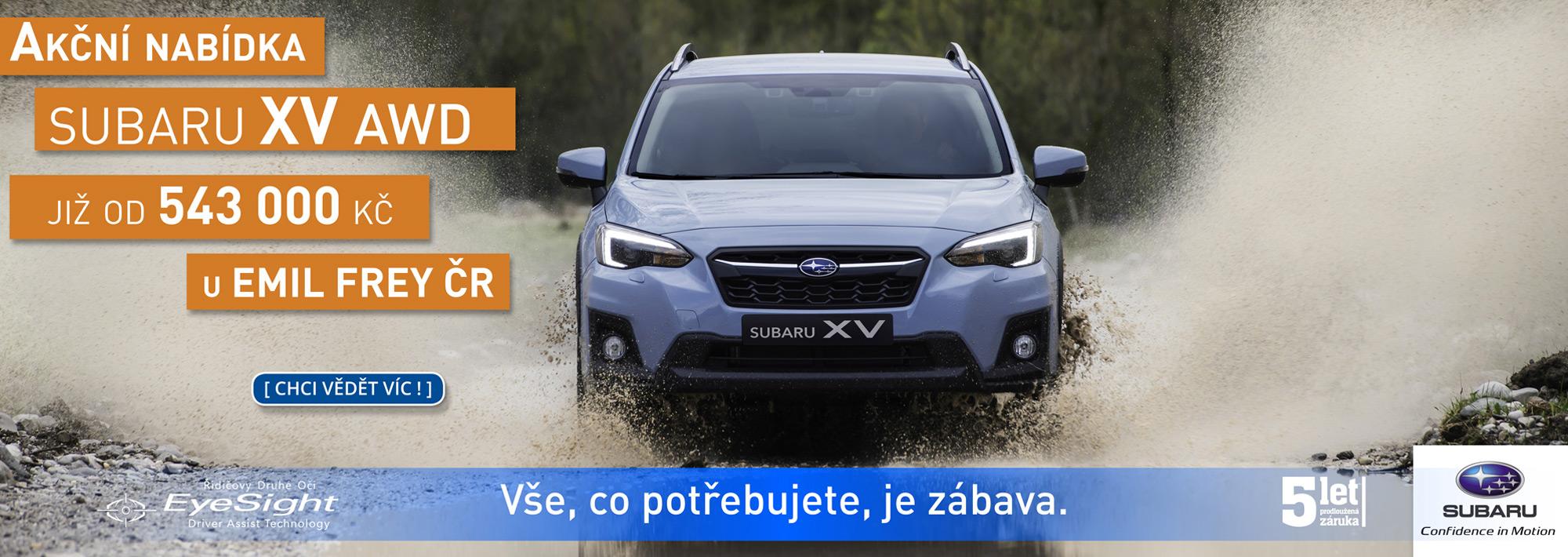 Emil Frey ČR: Subaru, Impreza, Forester, Outback, BRZ, XV, Levorg, Emil Frey